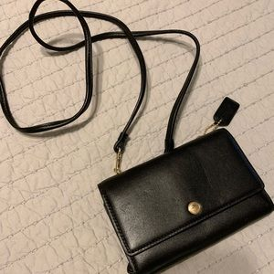 Coach cross body wallet